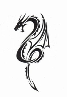 Personally this is my fave tribal dragon yet, hopefully you guys feel the same! Plz feel free to comment Tribal Dragon Tattoo Dragon Tatoo, Tribal Dragon Tattoos, Small Dragon Tattoos, Chinese Dragon Tattoos, Dragon Art, Dragon Head, Celtic Tattoos, Small Tattoos, Life Tattoos
