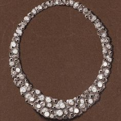 Grima Creations: DESIGNS & CONCEPTS - A White Gold Necklace inspired by volcanic formations with brilliant-cut Diamonds set in the 'craters'