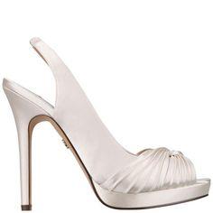 Felyce Pump by Nina Shoes Bridal in Dark Ivory Crystal Satin
