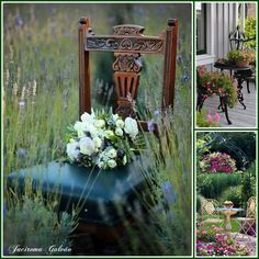 Seat and flowers