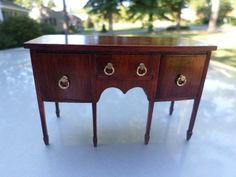 Dollhouse Miniature Artisan Dennis Jenvey Sideboard Signed & Dated Exquisite