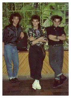 SODA STEREO: Conferencia de prensa SIGNOS Las Mercedes, Caracas, Venezuela. Año 1987 Fotografía: Carlos Sánchez