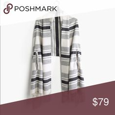 "Madewell Cape scarf  🎉Host Pick🎉 Comes with convenient armholes to a cozy scarf, so it can be worn around the neck or as a cape—simply genius. Pristine condition worn once over last winter. No rush to let this go 😉 price is firm 🎉Host pick best in jewelry & accessories 8/31/16 🎉  last price drop: 8/31 •Lambswool. •78 7/10""L x 27 3/5""W. •Dry clean. •Import.   🚩PLEASE READ: Instead of asking ""lowest?"" Submit a offer. I don't trade & no offsite transactions. Posh only. No Holds. 🚩…"
