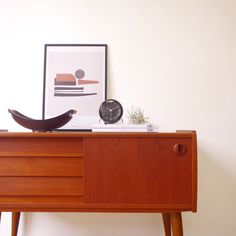 Cabinet with 3drawers and sliding door | こまものと北欧家具の店Salut(サリュ):目黒区・ウェグナーを中心とした北欧家具・フランスアンティーク・生活雑貨を販売