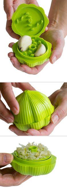 Garlic Grinder - With A Twist It Cuts Fresh Garlic Quickly & Easily