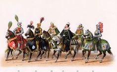 Order of the golden Fleece costumes. - State-entry of Emperor Charles V. into Nijmegen