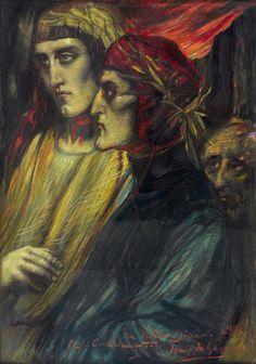Henry de Groux (1867-1930), Dante aux Enfers - 1899