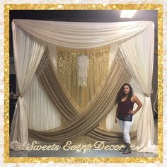 Wedding Draping Decor by: Sweets Event Decor | Tent Draping | Fabric Draping | Fabric Backdrop| Canopy Draping | Backdrop Draping | Pipe & Drape | Candy Table | Desserts Table | Floral Centerpieces | Floral Arrangements | Natural Flowers | Balloon Arch | Balloon Columns | Balloon Decor | Balloons