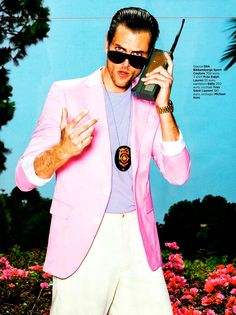 Miami Vice:Broderick Hunter, Mark W and Milan Krouzil shot by Tony Kelly and styled by Peter Cardona for the June 2012 issue of GQ Italia.