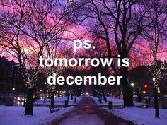 ps  tomorrow is december