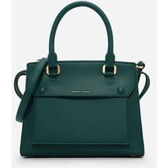 Charles & Keith STRUCTURED TOP HANDLE BAG (500 ZAR) ❤ liked on Polyvore featuring bags, handbags, hand bags, structured handbags, purse pouch, zipper handbags and top handle handbags
