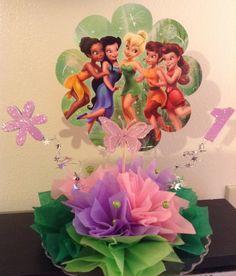 Tinkerbell centerpiece... shellysdecor4you@gmail.com #Birthdays #BabyShowers #Graduations etc...