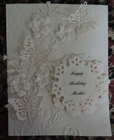 Gorgeous handmade card  by Cara Beck for her Mother's 86th birthday! ~Love~
