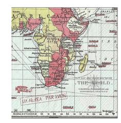 World Map Paper Napkins for Decoupage World Map German by YWart