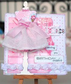 Birthday Card --- use SU dress up die.