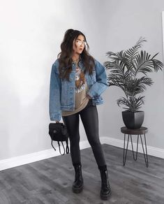 Edgy Outfits, Winter Fashion Outfits, Mode Outfits, Cute Casual Outfits, Look Fashion, Winter Outfits, Fashion Ideas, Fashion Women, Women's Fashion
