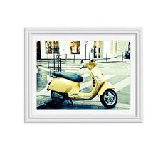 "Let It Ride by Rebecca Plotnick, 16 x 20"", Ridged Distressed Frame, White, Mat"