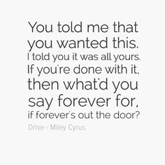 Drive - Miley Cyrus hmph