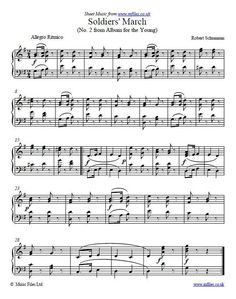 Robert Schumann Solrs March From Al For The Young A Simple Tune Which Can Be Used As An Alternative Processional Or Simply Hy