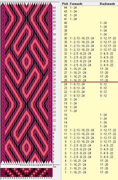24 tarjetas, 3 colores, repite cada 24 movimientos // sed_838 diseñado en GTT༺❁