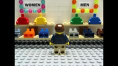 LEGO Stop Motion Animation Video about Shopping LEGO Style