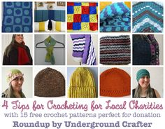 How To Get Started Crocheting or Knitting For Charity in Your Local Community on Underground Crafter including a roundup of 15 free crochet patterns perfect for donation including blankets, hats, scarves, and comfort shawls via @ucrafter