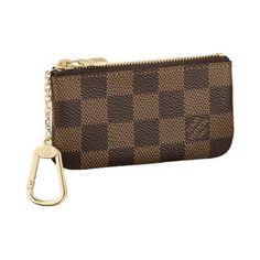 Louis Vuitton | Key Pouch in Damier Ebene.