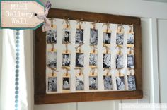 photo tag mini-gallery wall tutorial by @homestoriesatoz