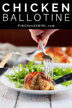 Easy Chicken Ballotine made with just 5 ingredients including salt and pepper! Bone-in skin-on chicken thighs are transformed into the ultimate date night or dinner party main course! Dinner Party Main Course, French Dinner Parties, Easy Thanksgiving Recipes, Easy Dinner Recipes, Real Food Recipes, Chicken Recipes, Healthy Recipes, Party Entrees, Easy French Recipes