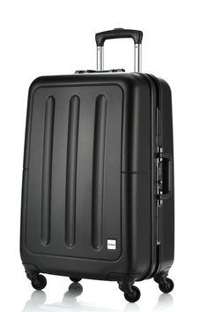 Tashiro® Classic Aluminum Frame 25'' Medium Carbon Fiber Luggage Spinner Black #Tashiro #Style #Travel #CarbonFiber #Luggage #Fashion
