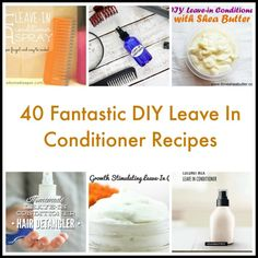40 Fantastic DIY Leave In Conditioner Recipes Morning Beauty Routine, Beauty Routines, Skincare Routine, Leave In Conditioner, Hair Conditioner, Organic Beauty, Organic Skin Care, Hair Shine Spray, Homemade Hair Treatments