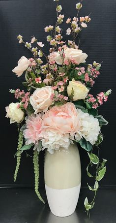 Blush Pink Tall Arrangement by Andrea