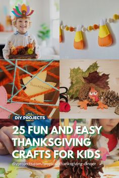 25 Fun and Easy Thanksgiving Crafts for Kids
