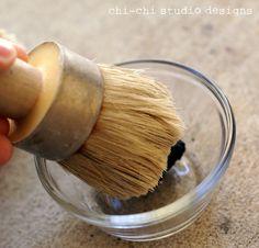 TUTORIAL: How to use Annie Sloan dark Wax on painted furniture  http://www.chichistudio.com/2011/11/annie-sloan-chalk-paint-dark-wax-tutorial/#