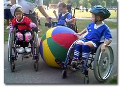 TOPsoccer is a program that involves students with different abilities to participate in soccer games. By the use of a very large ball students in wheel chairs are able to adapt and thrive.