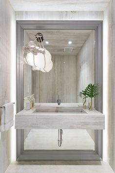 large mirror for small bathroom