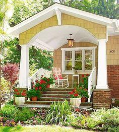 Amazing Redesigning Home Ideas : Classic Home Exterior Design Small Porch Unique Home Improvements