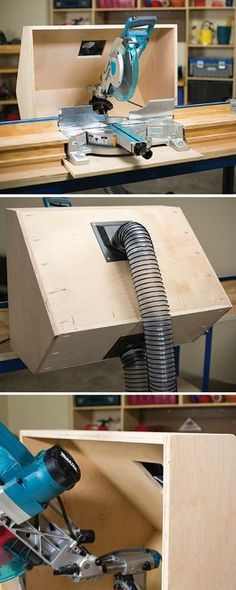 A miter saw is one of the handiest tools you can own, and one of the messiest. The chips and sawdust it creates get everywhere. This dust hood helps corral the mess by giving it somewhere to go—into a dust collector or shop vacuum. You can build a hood for your saw from plywood and a few fittings.