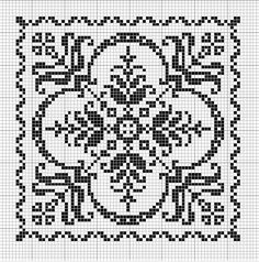 Tantes Zolder square cross-stitch - free