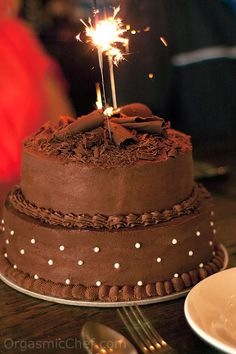 Two-Tier Chocolate Birthday Cake