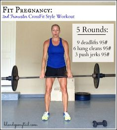 During this pregnancy, I intend to keep lifting heavy and incorporating CrossFit into my training. Hope you enjoy this second trimester CrossFit-style worko