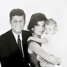 Senator Kennedy, candidate for President, with his wife Jacqueline daughter Caroline. 1960