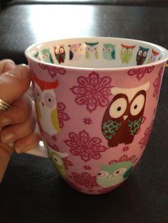 Adorable owl mug for $3.99 at T.J. Maxx ... perfect!