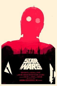 Star Wars Retro Typography movie poster