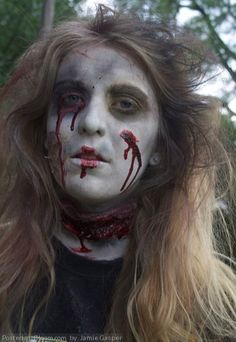 Special effects zombie makeup #halloween by Jamie Gasper