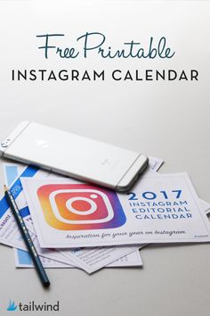 Know exactly what to post to Instagram when with this FREE printable Instagram content calendar from Tailwind. Keep up with all the trends for every month of 2017.