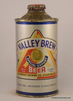 Valley Brew Special Export Beer Can, 12 oz. Cone Top, 188-10   The Beer Can Guide   The Ultimate Beer Can Reference!