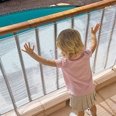 No-Climb Deck Guard Safety Screen - One Step Ahead Baby...depending on the type of plastic you could chic it up by wall papering.