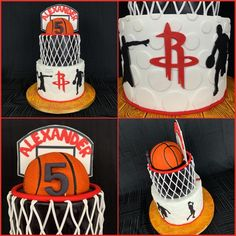 Sports Themed Cakes, Basketball Birthday, Houston Rockets, Birthday Cakes, Desserts, Fan, Tailgate Desserts, Anniversary Cakes, Dessert