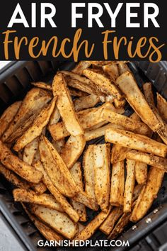 Air Fryer French Fries - Watch What U Eat - Air Fryer French Fries If you love homemade French fries but don't love the mess or the work, then investing in an air fryer might be right for you! Air Fryer French Fries are quick, simple and delicious! Air Fry French Fries, Making French Fries, French Fries Recipe, Air Fryer Oven Recipes, Air Frier Recipes, Air Fryer Dinner Recipes, Air Fryer Recipes Potatoes, Potato Recipes, Vegetable Recipes